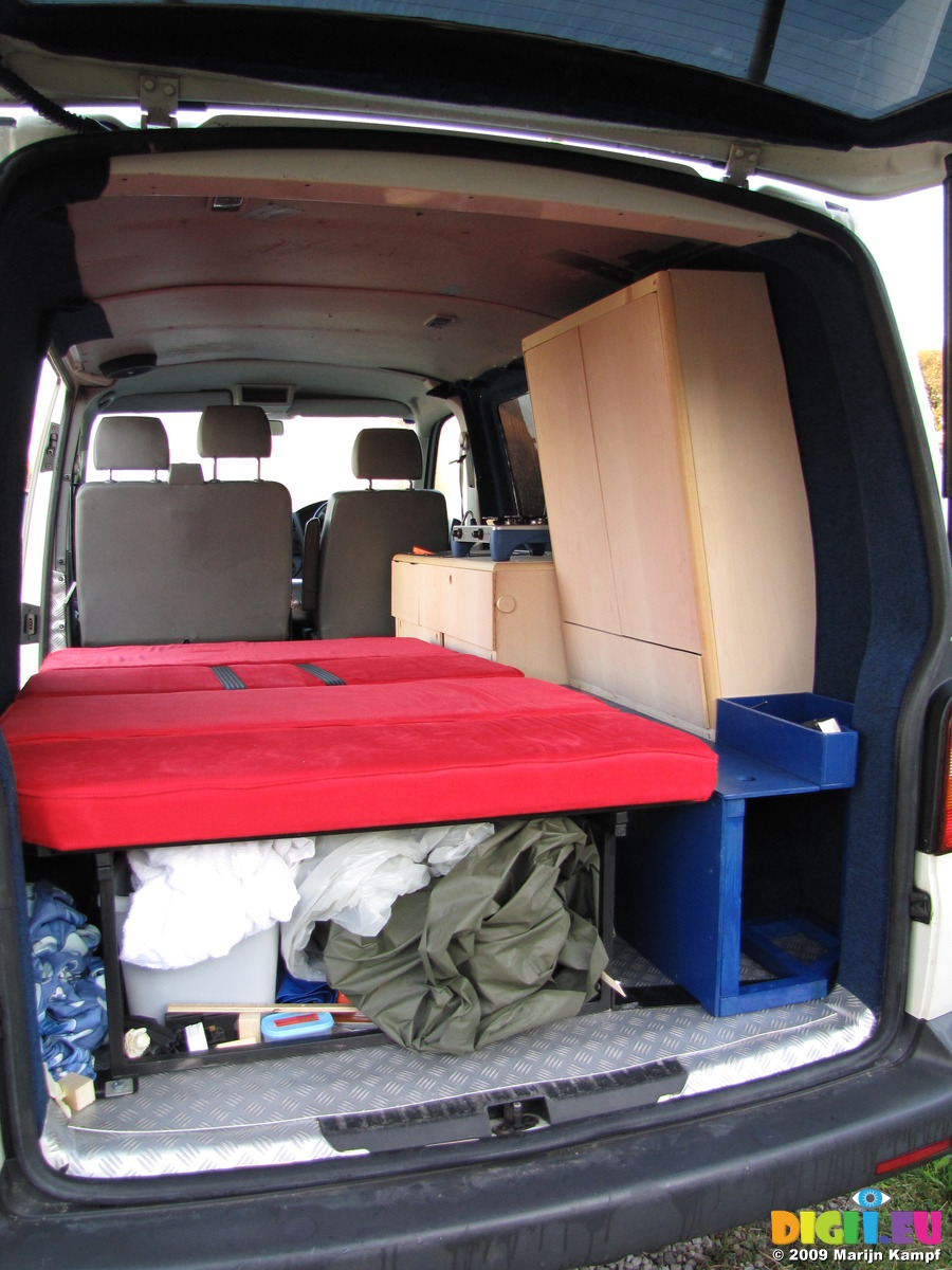 Picture Sx10546 Bed And More Storage 20091108 Ralph The Vw T5 Campervan Interior Photo By Digii Eu