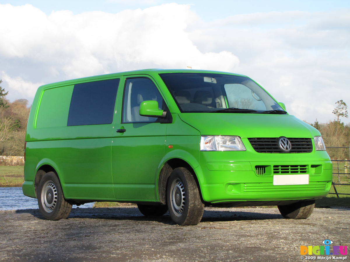 SX11156 Green Mean Camping Machine VW T5 Campervan At Ogmore Castle