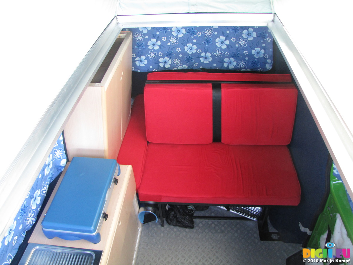 SX14109 Campervan Interior From Pop Up Roof