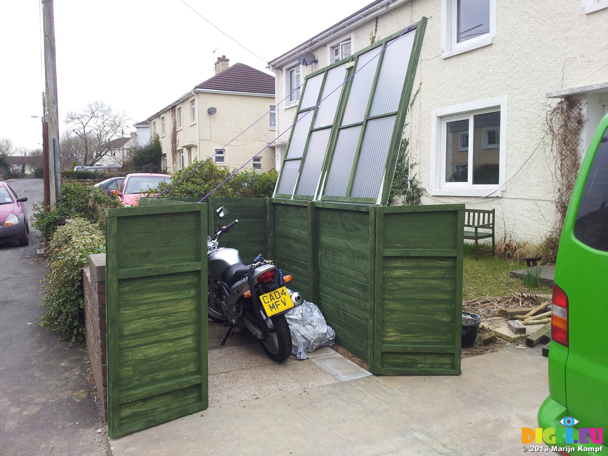Picture 20130303 155156 Diy Motor Bike Shed 20130303 Motorbike
