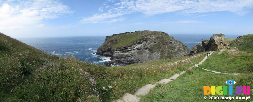 SX07303-07307 Tintagel Castle on Island