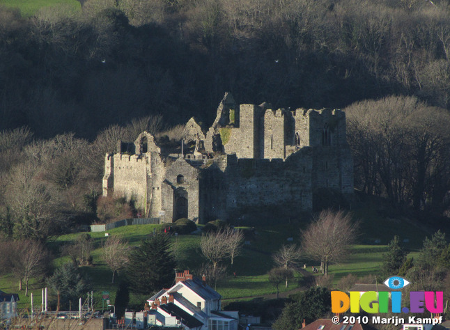 SX11935 Oystermouth Castle from Mumbles Hill