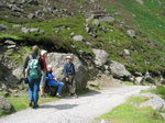 27497 Marjan, Machteld, Oma and Hans on path to Mohan Falls.jpg