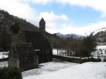 SX02772 Glendalough St Kevin's Church in snow.jpg