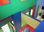 SX02836 Esher-esque view of colourfull painted windows in Dick Bruna house Utrecht.jpg