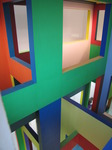 SX02838 Esher-esque view of colourfull painted windows in Dick Bruna house Utrecht.jpg