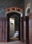 SX03381 Spiral staircase leading out of room in Cardiff castle.jpg