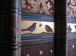 SX03388 Birds painted on wall of Cardiff castle library.jpg