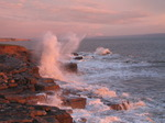 20090410 Waves at sunset by Ogmore by Sea