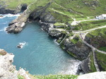 SX07138 Tintagel Haven from Tintagel Castle.jpg