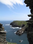 SX07140 Tintagel Haven and caves from Tintagel Castle.jpg