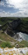 SX07233-07237 View towards Tintagel and mainland courtyard from Tintagel Island.jpg