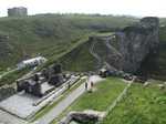 SX07241 Tintagel Castle Island and mainland courtyards.jpg