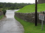 SX07740 Flooded carpark Ogmore Castle.jpg