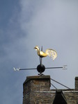 SX07914 Golden wind vane on top of Brecon Cathedral.jpg
