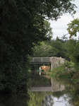 SX09640 Canal boat at bridge nr 111 on Monmouthshire and Brecon Canal.jpg