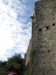 SX09699 Wall and sky at Oystermouth Castle.jpg