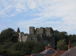SX09711 Roofs of houses and Oystermouth Castle.jpg