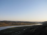 SX09789 Ogmore river and Merthyr-mawr Warren in the morning.jpg