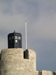 SX11186 Dr Who's Tardis on Caerphilly castle.jpg