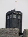SX11223 Dr Who's Tardis on Caerphilly castle.jpg