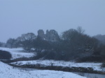 SX12017 Snow at Ogmore Castle and Ogmore river.jpg