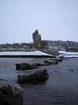 SX12037 Stepping stones at Ogmore River with snow.jpg