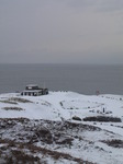 SX12152 Pen-y-bont surf life saving club in snow.jpg