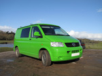 SX12374 Our green VW T5 campervan at Ogmore Castle.jpg