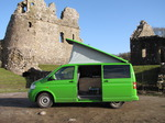 SX12392 Our green VW T5 campervan with popup roof at Ogmore Castle.jpg