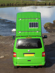 SX12393 Our green VW T5 campervan with popup roof at Ogmore Castle.jpg