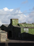 SX12426 Green metal farm buildings near Ewenny Priory.jpg