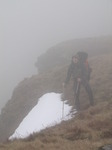 SX12920 Wouko in mist by snow on Waun Lefrith.jpg