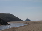 SX14165 View to Church Rock over Broad Haven beach and stream.jpg