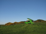 SX14293 Ralphie the green vw campervan at Trefalen Farm Campsite.jpg