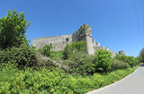 SX14423-14426 Manorbier castle from the road.jpg