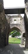 SX14662-14665 View from gatehouse St Quentin's Castle, Llanblethian, Cowbridge.jpg