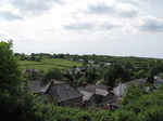 SX14673 View of hills from gatehouse St Quentin's Castle, Llanblethian, Cowbridge.jpg