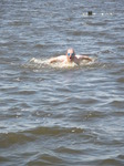 JT00982 Marijn attempting butterfly stroke in lake 'De Fluezen' from Indijk, The Netherlands.jpg