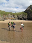 SX15863 Rita, Peter, Jelle and Diede at Three Cliffs Bay.jpg