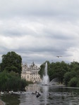 SX15987 View over lake in St James's Park towards Goverment Offices.jpg