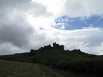 SX16085 Silhouette of Carreg Cennen Castle on top of hill.jpg