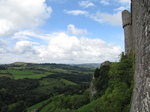 SX16125 View past walls of Carreg Cennen Castle.jpg