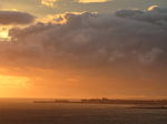 SX16465 Sunset over Porthcawl from Ogmore by Sea.jpg