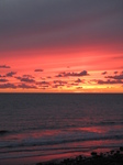 SX16495 Red sky from sunset over sea at Ogmore by Sea.jpg