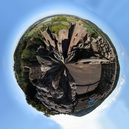 SX16634-16651 Goodrich Castle polar planet from top of keep.jpg