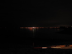 SX17014 View to Porthcawl at night from Ogmore river mouth.jpg