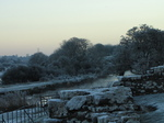 SX17080 Ogmore castle and river covered in frost.jpg