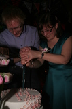 IMG_7519 Marijn and Jenni stabbing the cake.JPG