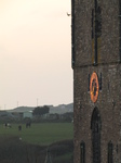 SX17408 Last rays of sun on clock of St David's Cathedral.jpg